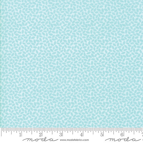 Orchard 24076 16 Aqua Blue Leaves Tonal Moda April Rosenthal