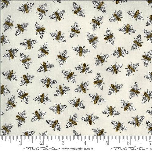 Bee Grateful 19965 14 Gray Bees Moda Deb Strain