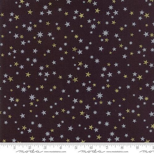 White Christmas Metallic 1657 15M Black Stars