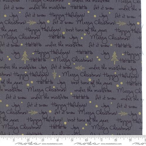 White Christmas Metallic 1652 14M Gray Text