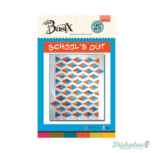 Queen Quilt SCHOOL'S OUT Jelly Roll Quilt Pattern