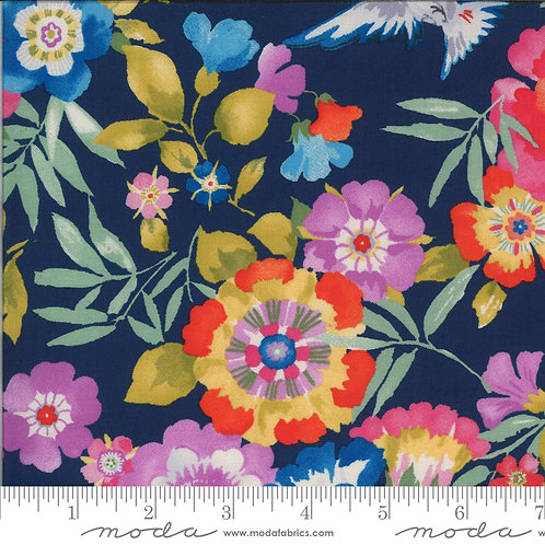 Lulu 33580 18 Navy Floral Moda Chez Moi