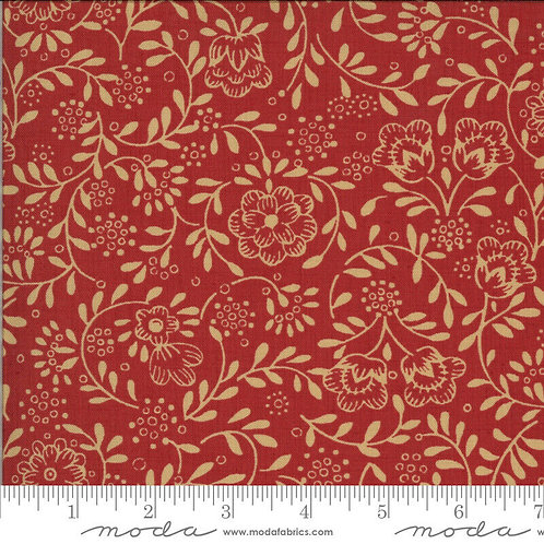 La Rose Rouge 13887 12 Red Floral Moda French General