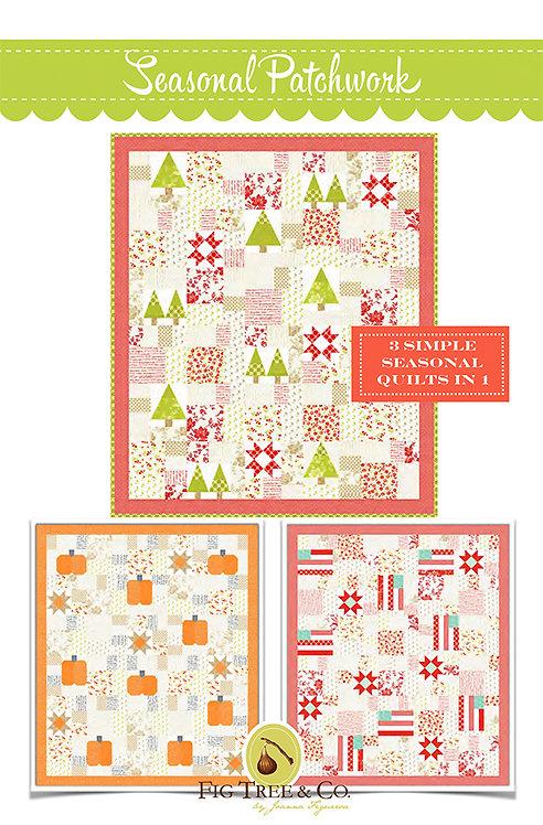 Fig Tree SEASONAL PATCHWORK Fat Quarter Quilt Pattern