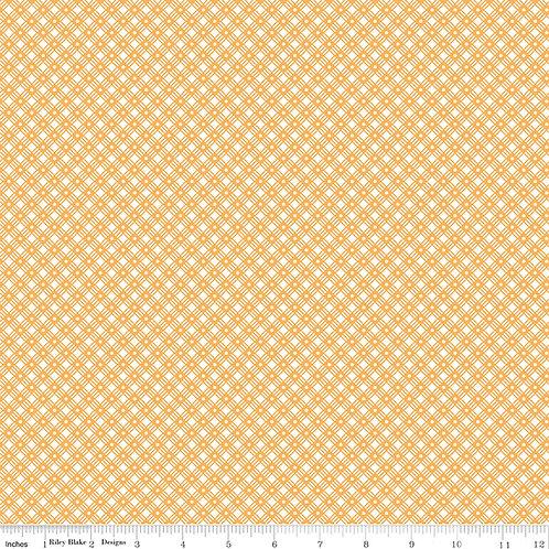 Flea Market C10221D Yellow Weave Lori Holt  Riley Blake