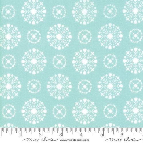 Vintage Holiday 55166 12 Aqua Snowflakes