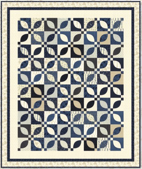 Minick & Simpson BLUE GARDEN Fat Quarter Pattern