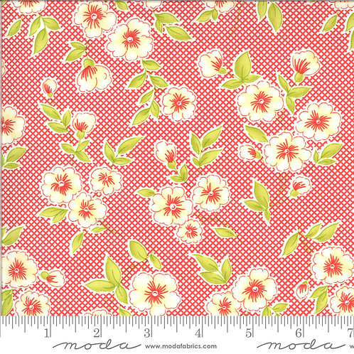 Figs & Shirtings 20390 13 Red Floral Moda Fig Tree