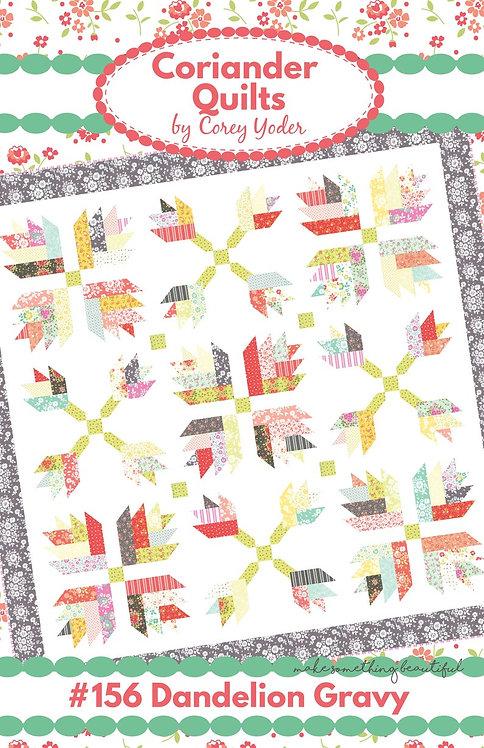 Coriander DANDELION GRAVY Jelly Roll Pattern
