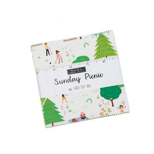 Sunday Picnic Meow Moda Charm Pack