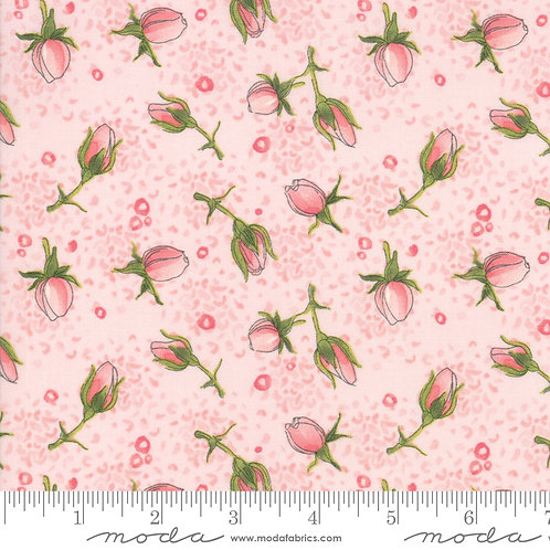 Abby Rose 48672 12 Rose Pink Floral Moda Robin Pickens
