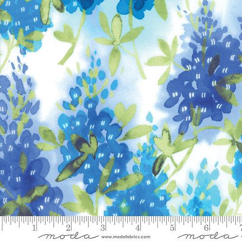 Fields of Blue 33450 11 White Bluebonnets Moda