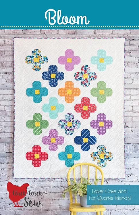 Cluck Cluck Sew BLOOM Layer Cake Fat Quarter Pattern
