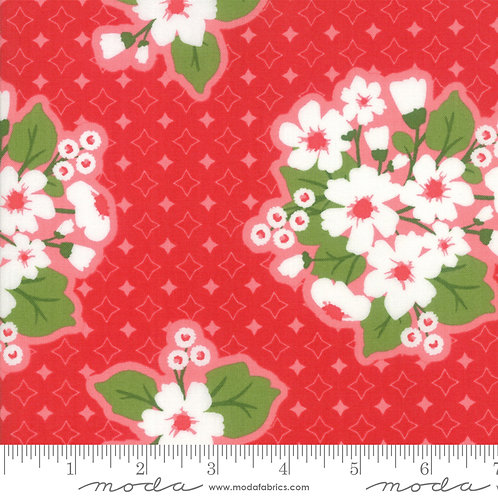 All Weather Friend 24060 11 Apple Red Floral Moda April Rosenthal