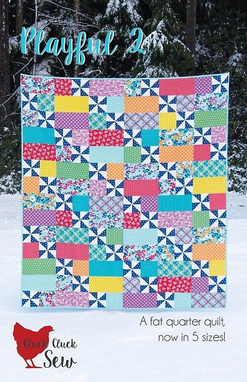 Cluck Cluck Sew PLAYFUL 2 Fat Quarter Pattern