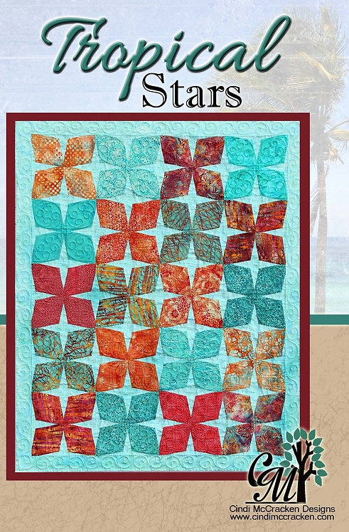 Cindi McCracken TROPICAL STARS Layer Cake Pattern