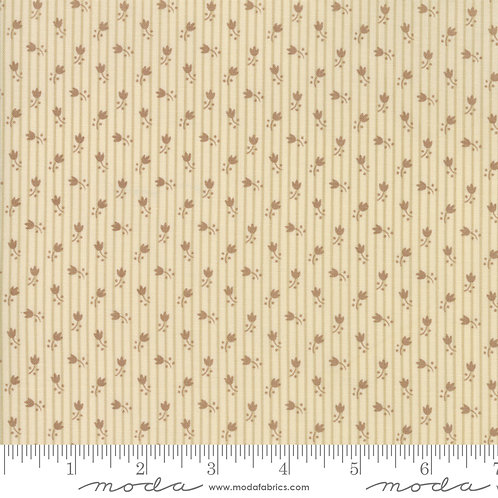 Jo's Shirtings 38045 12 Beige Brown Floral Moda Jo Morton