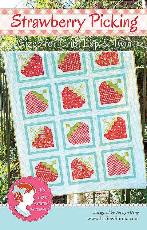 It's Sew Emma STRAWBERRY PICKING Fat Quarter Pattern