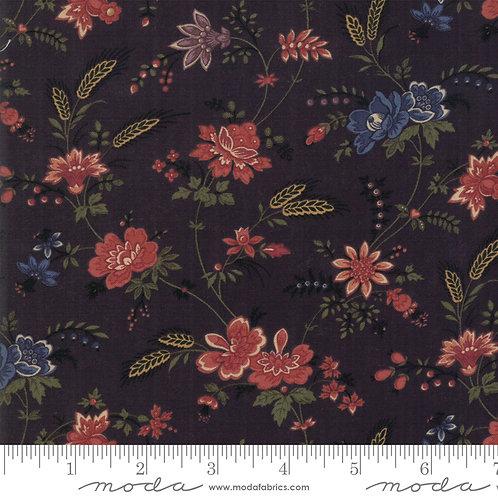 Milestones 9610 19 Black Floral Moda Kansas Troubles