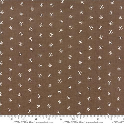 Merriment 48275 15 Brown Snowflakes Moda GINGIBER