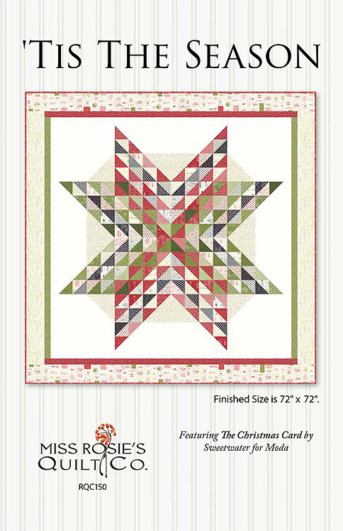 Christmas Card Miss Rosie TIS THE SEASON Layer Cake Pattern