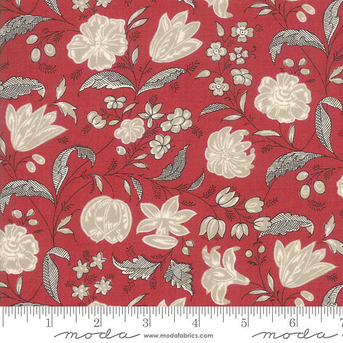 Chafarcani 13853 11 Red Beige Floral Moda French General