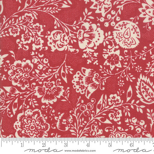 Chafarcani 13850 13 Red Beige Floral Moda French General
