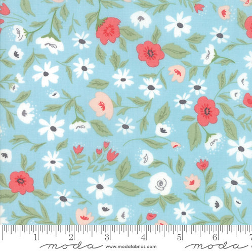 Garden Variety 5070 13 Light Blue Floral Moda Lella Boutique