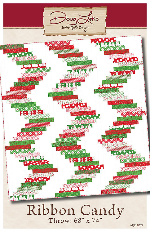 Antler Quilt Designs Doug Leko RIBBON CANDY Jelly Roll Pattern