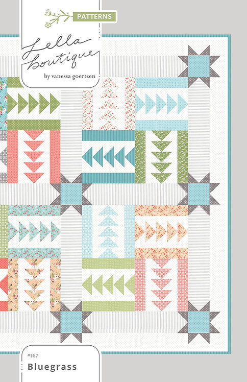 Lella Boutique BLUEGRASS Fat Eighth Pattern