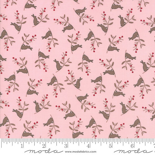 Cottontail Cottage 2922 14 Pink Rabbits Moda Bunny Hill