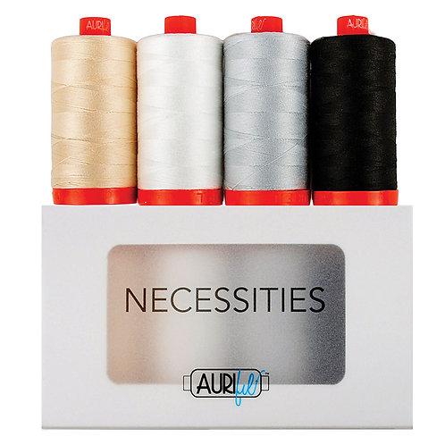 Aurifil Thread NECESSITIES 4 spools 50wt
