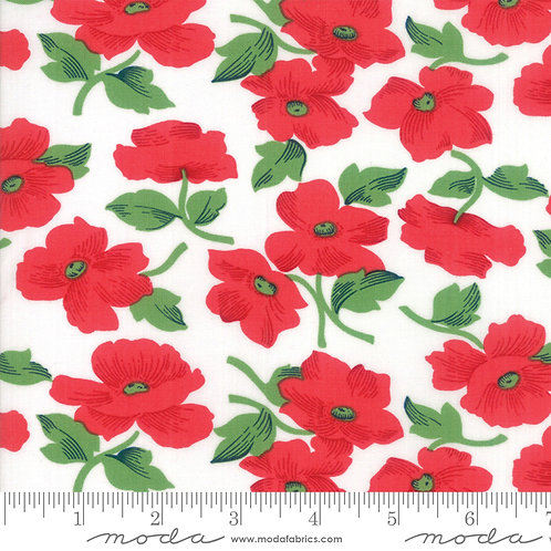 Feed Sacks Red Rover 23312 11 Red Floral Moda Linzee McCray