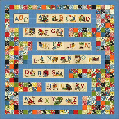 ABC's PLAYTIME Charm Quilt KIT It's Elementary AMERICAN JANE