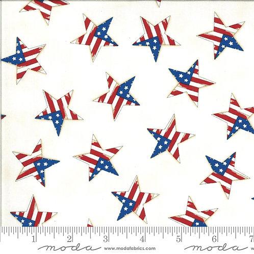 American the Beautiful 19988 12 White Stars Moda Deb Strain