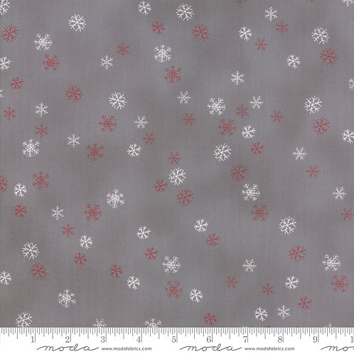 Sno 39725 16 Gray Red Snowflakes Moda Northern Quilts