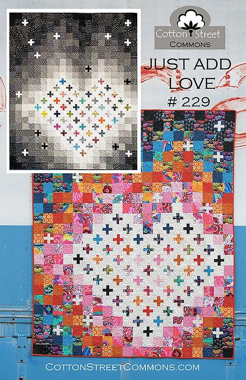Cotton Street JUST ADD LOVE Fat Quarter Pattern