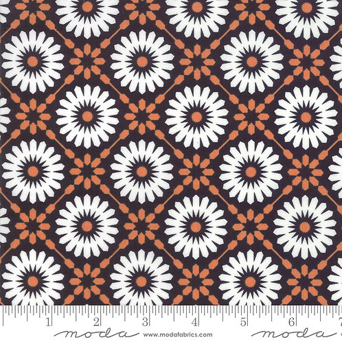 Midnight Magic 24080 24 Black Orange Floral Moda April Rosenthal