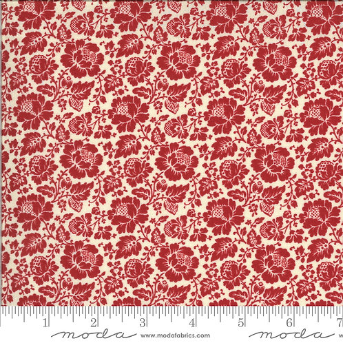 La Rose Rouge 13884 15 Red Floral Moda French General