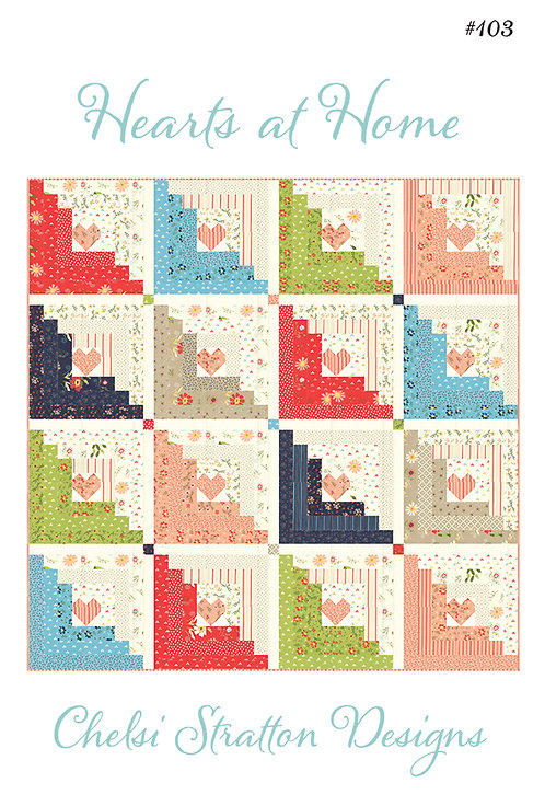 A Quilting Life HEARTS AT HOME Jelly Roll Pattern