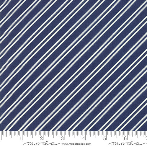 At Home 55206 21 Navy Diagonal Stripe Moda Bonnie & Camille