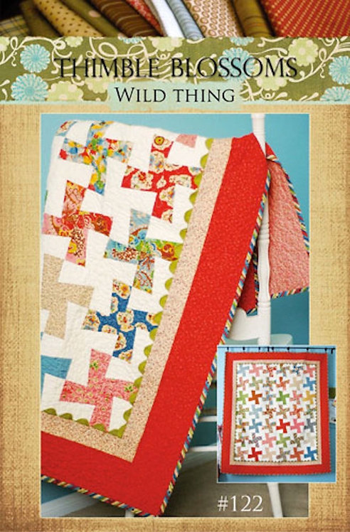 Thimble Blossoms WILD THING Jelly Roll Pattern