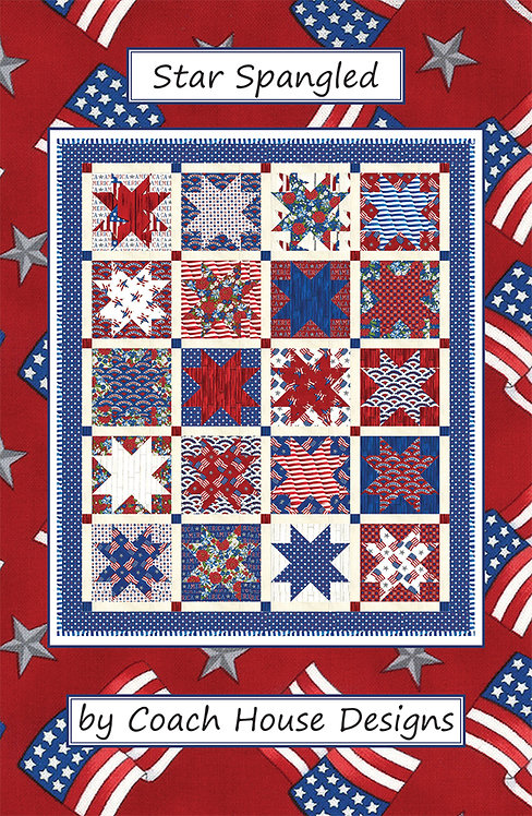 Coach House STAR SPANGLED Layer Cake Pattern