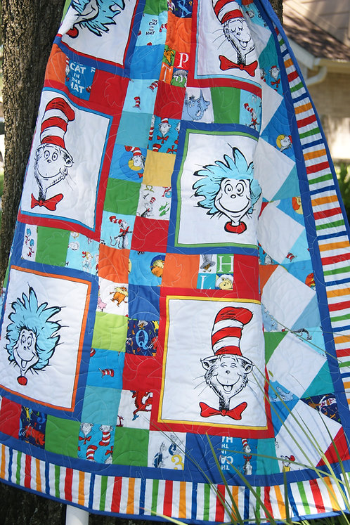 CAT IN THE HAT FUN Panel Quilt KIT
