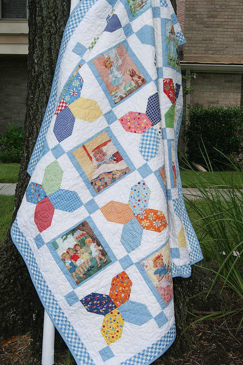 STORY BOOK TALES Charm Panel Quilt KIT American Jane
