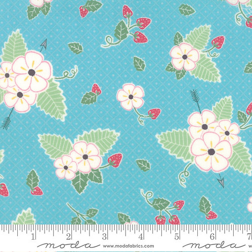 Bumble Berries 25090 18 Blue Floral Moda Jungs