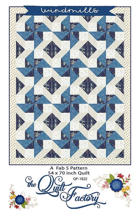 Quilt Factory WINDMILLS 5 ~ 1 Yard Pattern