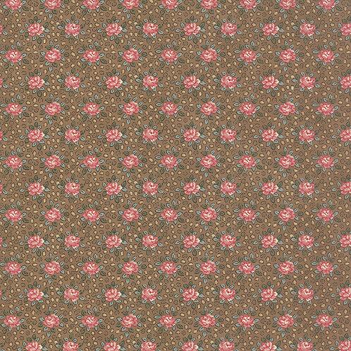 Color Daze 42233 14 Brown Pink Floral Moda Laudry Basket