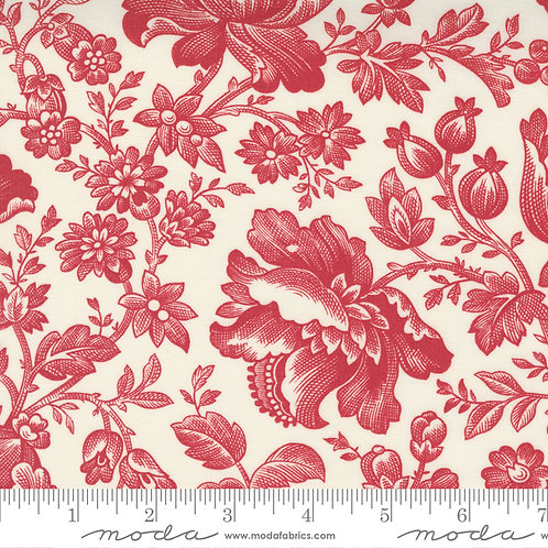 Cranberries & Cream 44260 13 Red Beige Floral Moda 3 Sisters