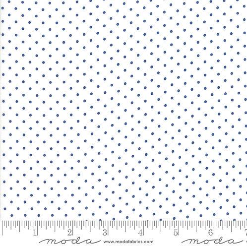 CATALINA 20376 15 White Blue Navy Polka Dots Moda FIG TREE Floral